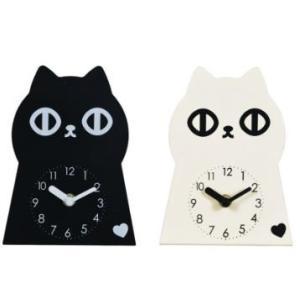 かわいいデザイン キャットクロック 猫時計 置き時計 5017 クロック ねこ ネコ キャット おしゃれ 北欧 アメリカン雑貨 かわいい インテリア時計 Fantasuto|lifemaru