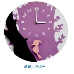キツツキが揺れるのが素敵です!バード壁掛け時計 振子時計 鳥 クロック オフィス おしゃれ バラ 北欧 アメリカン雑貨 かわいい インテリア時計 ギフト ftasto|lifemaru