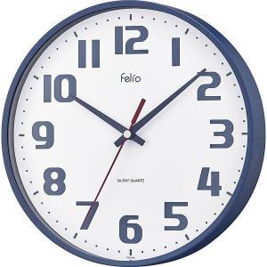 フェリオ チュロス ネイビーブルー FEW182NB-Z 壁掛け時計 ウォールクロック オフィス おしゃれ 北欧 アメリカン雑貨 かわいい インテリア時計 srgku|lifemaru
