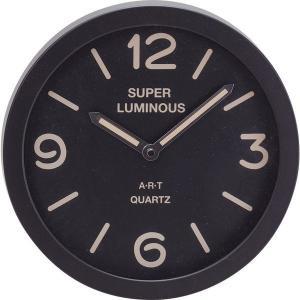 ARTスーパールミナスクロック(M) 1652 壁掛け時計 ウォールクロック オフィス おしゃれ 北欧 ギフト アメリカン雑貨 かわいい 卓上 インテリア時計 srgku|lifemaru