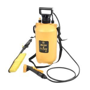 おそうじ用ポンプ式水圧クリーナー ウォッシュ&クリーンEX  容量7L 加圧式 電源・電池が不要!スチームクリーナー 業務用 洗車 家庭用高圧洗浄機 大掃除|lifemaru