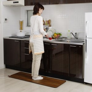 電気ホットキッチンマット SB-KM130 45×130cm 足元暖房 電気ホットカーペット ホットマット 床暖房 ヒーター あったかグッズ 815917gt|lifemaru