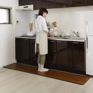 フローリングタイプ ホットキッチンマット SB-KM130 45×130cm 電気ホットマット 足元暖房 電気ホットカーペット 床暖房 ヒーター あったかグッズ 815919gt|lifemaru