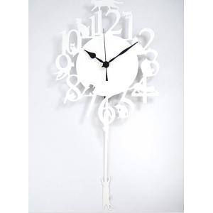 猫振り子時計 ネコ ホワイト 壁掛時計 壁掛け時計 オフィス おしゃれ 北欧 アメリカン雑貨 かわいい インテリア時計 ギフト|lifemaru