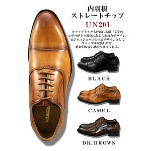 【UN SNOBBISH】ビジネスシューズ メンズ UN-201 内羽根ストレートチップ 3カラー カジュアル コンフォートシューズ ブーツ 紳士靴|lifemaru