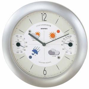 1台4役(お天気予測・温度・湿度計付き掛け時計)晴天望機 壁掛け時計 熱中症対策 683212 ウォールクロック 北欧 アメリカン オシャレ かわいい インテリア|lifemaru