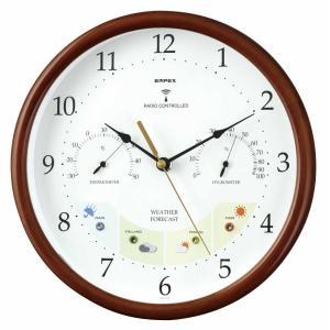 1台4役(お天気予測・温度・湿度計付き掛け時計)ウェザーパル電波時計 壁掛け時計 熱中症対策 1038537 ウォールクロック 北欧 アメリカン かわいい おしゃれ|lifemaru
