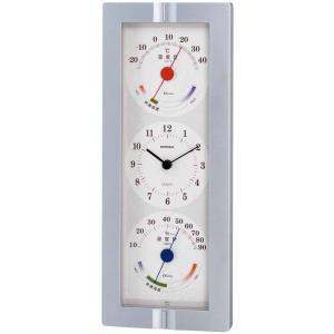 温湿度計付き掛け時計  ウェザータイム 壁掛け時計 熱中症対策 736590 ウォールクロック 北欧 アメリカン かわいい おしゃれ|lifemaru
