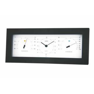 モノトーン MONO温度計・時計・湿度計・置き掛け兼用 ウェザータイム 壁掛け時計 熱中症対策 861355 ウォールクロック 北欧 アメリカン かわいい おしゃれ|lifemaru