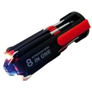 FZ-895 8in1.6LED付きドライバーセット ライト付  電動工具 大工 DIY 折りたたみ 6901028660627|lifemaru