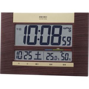 セイコー 温・湿度表示付 電波時計 SQ440B デジタル多機能 掛け置き兼用 seiko オフィス おしゃれ 北欧 アメリカン雑貨 かわいい インテリア時計 srgku|lifemaru