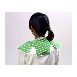 ホット&クールパッド 首肩用(グリーン)簡単冷温熱用シップ 繰り返し使える カイロ 湯たんぽ あったか ゆたんぽ おしゃれ 発熱 natsupinetto|lifemaru