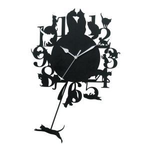 猫振り子時計 壁掛け時計 ウォールクロック KT5851 猫 ねこ ネコ キャット 振子時計 おしゃれ 北欧 アメリカン雑貨 かわいい インテリア時計 Fantasuto|lifemaru