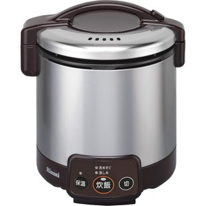 リンナイ リンナイガス炊飯器 RR-050VM(DB) LP 簡単操作 キッチン おしゃれ|lifemaru