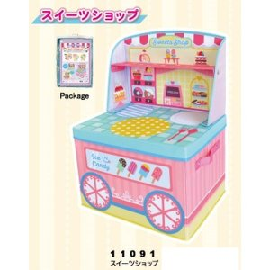 ままごと 収納 ボックス (スイーツショップ)女の子向き 子供部屋 収納 おままごと お片付け おもちゃ箱 かわいい おしゃれ 家具|lifemaru