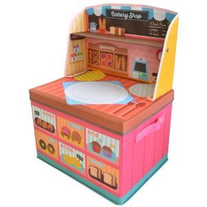 ままごと 収納 ボックス (ベーカリーショップ)男の子向き 子供部屋 収納 おままごと お片付け おもちゃ箱 かわいい おしゃれ 家具|lifemaru