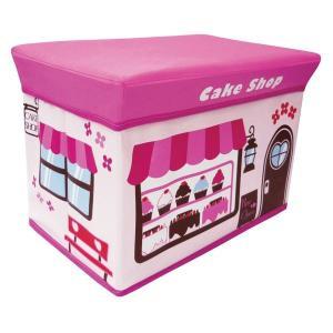 ストレージボックス スツール ケーキショップ 大容量 収納 ボックス 女の子 男の子 子供部屋 おままごと お片付け おもちゃ箱 かわいい おしゃれ インテリア|lifemaru