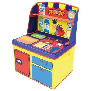 ままごと 収納 ボックス (マーケット)男の子向き 子供部屋 収納 おままごと お片付け おもちゃ箱 かわいい おしゃれ 家具|lifemaru
