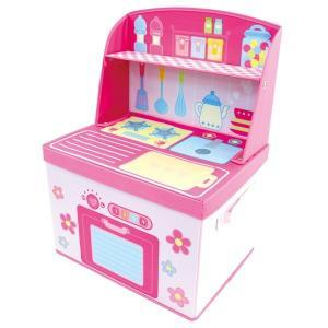 ままごと 収納 ボックス (キッチン)女の子向き 子供部屋 収納 おままごと お片付け おもちゃ箱 かわいい おしゃれ 家具|lifemaru