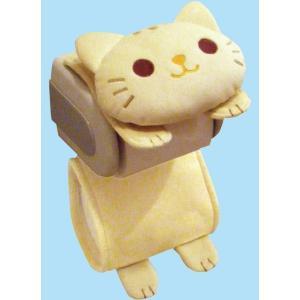ねこのロールペーパーホルダー トイレ用ペーパーホルダー ME53 猫 ねこ キャット ロールカバー ロールペーパー トイレット 北欧 生活雑貨|lifemaru