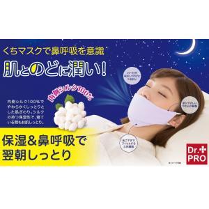 喉の乾燥 いびき対策 すやすや保湿シルクマスク 夜用マスク 就寝 鼻呼吸サポート 濡れマスク うるお...