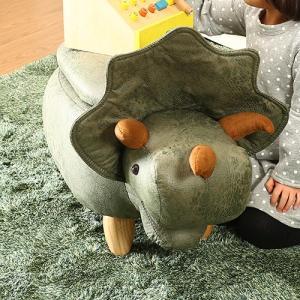 キッズ ベビー アニマルスツール収納付き 恐竜