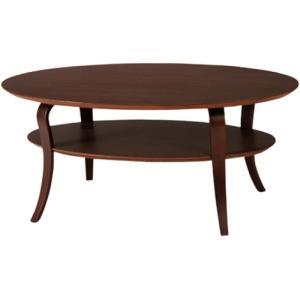 木製 楕円形 オーバルテーブル リビングテーブル -OVAL-|lifeplus