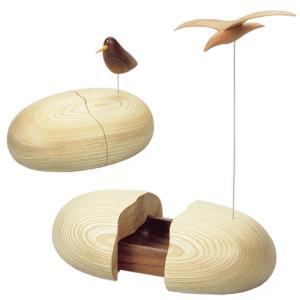 卵型 小物入れ 木製 トレイ -スイングバード-|lifeplus