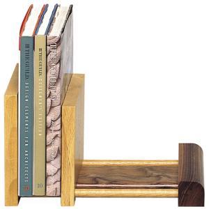 木製 ブックスタンド スライド式 本立て ノーマルタイプ|lifeplus