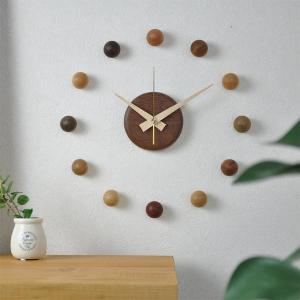 おしゃれ 壁掛け時計 木製 掛け時計 壁掛時計 -サテライトクロック- オシャレ 新築祝い 開店祝い カッコイイ 木製時計 贈り物 木の時計 デザイン時計 お洒落|lifeplus
