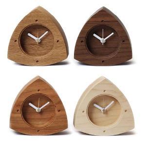 置き時計 カントリー 木製 ナチュラル 時計 -ONIGIRI-|lifeplus