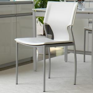 ダイニングチェア 2脚セット モダン 椅子 ホワイト -SHIRO-|lifeplus