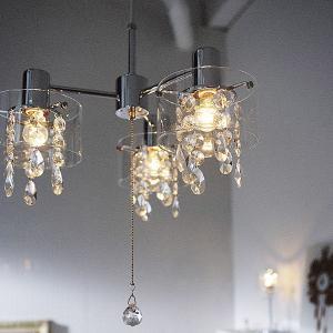 モダン シャンデリアライト ペンダントライト ガラス 照明 白熱灯 3灯 180W LURA lifeplus