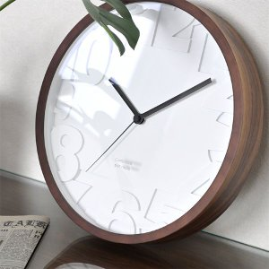 おしゃれ 電波時計  壁掛け時計 掛け時計 MATIZ お洒落 オシャレ ウォルナット シンプル カッコイイ|lifeplus