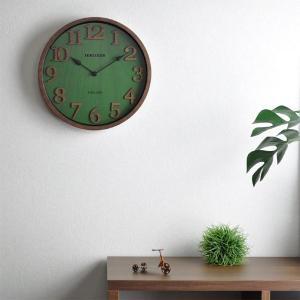 おしゃれ 電波時計 壁掛け時計 ENGLAND 新築祝い 結婚祝い レトロ感 カッコいい 緑色 グリーン お洒落|lifeplus|02