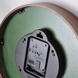 おしゃれ 電波時計 壁掛け時計 ENGLAND 新築祝い 結婚祝い レトロ感 カッコいい 緑色 グリーン お洒落|lifeplus|05