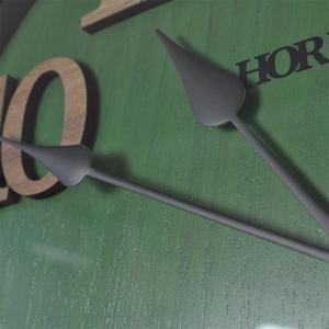 おしゃれ 電波時計 壁掛け時計 ENGLAND 新築祝い 結婚祝い レトロ感 カッコいい 緑色 グリーン お洒落|lifeplus|06