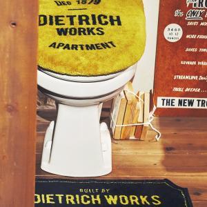 トイレマットセット -ディートリッヒ- トイレタリーセット おしゃれ お洒落 かっこいい 海外 外国 洗浄便座用 カッコイイ オシャレ インダストリアルの写真