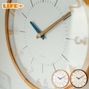 立体的なアクリルの数字と木製の針でナチュラル&シンプルに仕上げた電波時計。 光沢仕上げをした木製フレ...