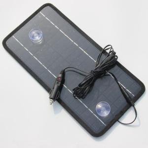 車載用バッテリーチャージャー バッテリー上がりの防止に 充電用ソーラーパネル 12V ソーラー USB機器充電可 8.5W LP-CSB85W