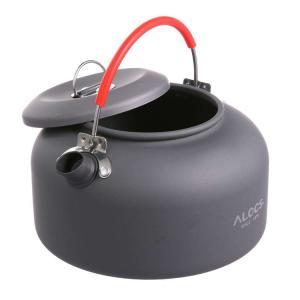 [ALOCS] キャンプ・アウトドア用ケトル ポータブルやかん 0.8L コーヒー ポット 登山 B...