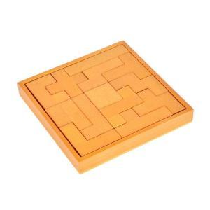 いろいろ形をした13個のピースを組み合わせる木製パズル。 ゾウや家など組み合わせて様々なものを作れま...
