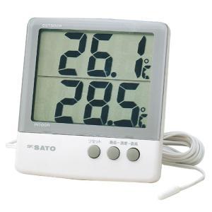 SATO 佐藤計量器 デジタル最高最低温度計 PC-6800 1060-00|lifescale