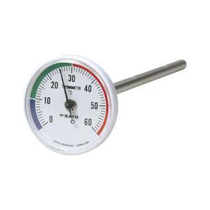 SATO 佐藤計量器 バイメタル地温計 1408-00 (0〜60℃)|lifescale