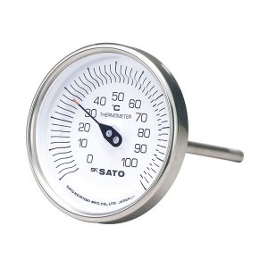SATO 佐藤計量器 バイメタル温度計 BM-T-90Sシリーズ (0/100℃ L=50mm) 2010-30|lifescale