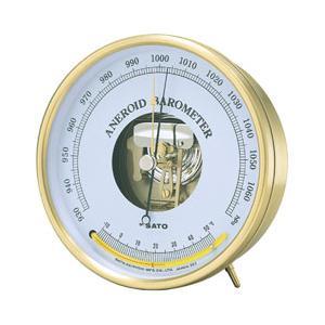 SATO 佐藤計量器 アネロイド気圧計 (温度計付) 7610-20|lifescale