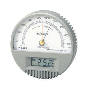 SATO 佐藤計量器 バロメックス気圧計 (温度計付) 7612-00|lifescale