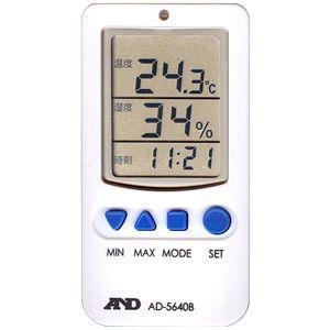 デジタル温度計・温湿度計 AD-5640B A&D|lifescale