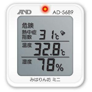 A&D 熱中症指数モニター 熱中症 みはりん坊ミニ AD-5689|lifescale