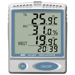 A&D 壁掛・卓上型 熱中症指数モニター AD-5693|lifescale